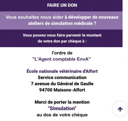 Don Ecole Veterinaire Maisons Alfort