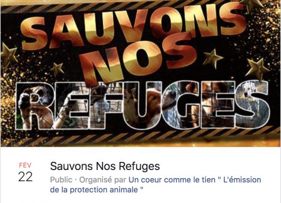 Evenement Sauvons Nos Refuges